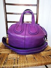 Givenchy Nightingale In Small (medium Sized) Vibrant Purple Leather