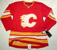 CALGARY FLAMES size 54 = XL - Alternate - 3rd Adidas NHL HOCKEY JERSEY Authentic