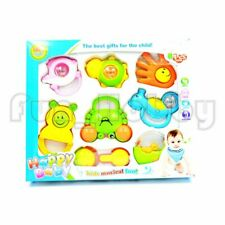 8Pcs Baby Hand Shake Bell Ring Rattles Set Baby Toys Kids Hand Toys