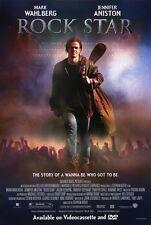 ROCK STAR Movie POSTER 27x40 B Mark Wahlberg Jennifer Aniston Timothy Olyphant