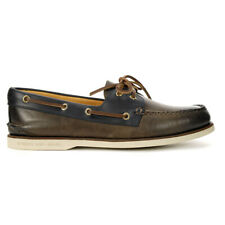 Sperry Men's Gold Cup Authentic Original Camden 2-Eye Soft Fossile/Blue STS22...