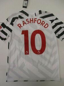 adidas Manchester United Rashford Third Shirt 2020 2021 Junior 11-12 Years CN647