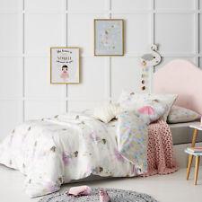 Adairs Kids Harlequin Fairy Double Quilt Cover Set+Fairy Cushion Bnip Rrp$149.99