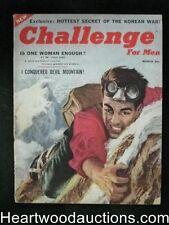 """Challenge"" March 1955 #1 Mountain Climbing Hockey"