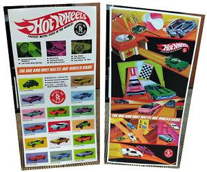 MATTEL HOT WHEELS Redline POSTER LOT Vintage 1960's 1970's TOY Race Set SWEET 16