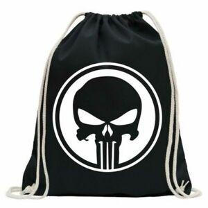 Punisher USA - Débardeur Tête de Mort Sac Sport Fun à Dos Gymsack Ziehg