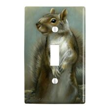 Mischievous Squirrel Plastic Wall Decor Toggle Light Switch Plate Cover