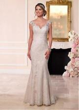 018NEW White/Ivory Lace Wedding dress Bridal Gown Custom Size 4 6 8 10 12+++