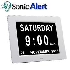 "Sonic Alert Extra Large 8"" Digital Calendar Clock Day & Time Visually DT1000"