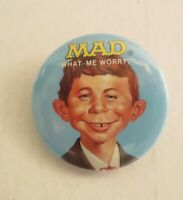 Vintage 1987 Mad Magazine Alfred E. Neuman What Me Worry Color Pin Button