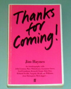 SIGNED JIM HAYNES THANKS FOR COMING London Amsterdam Psychedelic Erotic Hippies