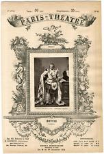"""Lemercier et Cie, Paris-Théâtre, Joseph-Lambert dit """"José"""" Dupuis (1833-1900), a"""