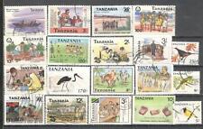 S8841 - TANZANIA 1987 - LOTTO 18 TEMATICI DIFFERENTI - VEDI FOTO