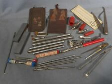 Vintage Tools Precision Machinist Toolmakers Mixed Lot Tool Drills Metalwork