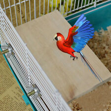 Wooden Pet Parrot Platform Stand Rack Wood Toy Branch Perches For Bird Cage