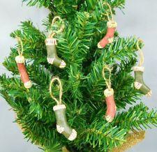 Set of 6 mini stocking ornaments  - New by Honey & Me #CIB9209