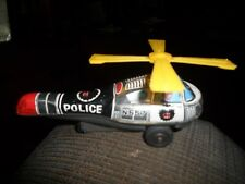 Working Vintage Police Helicopter Tin Friction Toy Japan Nd in circle