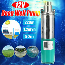 220W High Powered DC 12V 20M Lift 1.2m³/h Deep Well Pump Submersible Water Pump