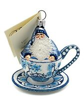 New ListingPatricia Breen Tea for Two Blue Willow Holiday Tree Ornament Tea Party Cup Blue
