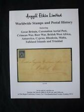 ARGYLL ETKIN AUCTION CATALOGUE 2008 GB CORONATION AERIAL POST CRIMEAN BOER ETC