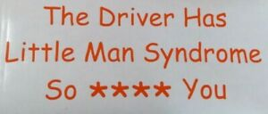 FUNNY RUDE LITTLE MAN **** YOU  BUMPER STICKER / CAR DECAL