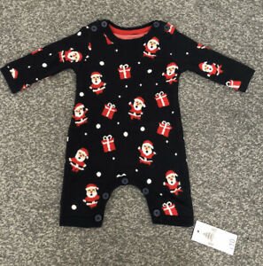Newborn.Baby.Boy.Girl.Christmas Sleep suit.Outfit.BNWT.NEW.First Size 0-0