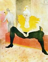 Sitting Clown by Henri de Toulouse Lautrec Giclee Fine Art Print Repro on Canvas