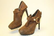 Guess Gwieshay Womens 6.5 M Suede Side Zip Stiletto  Booties High Heels Boots