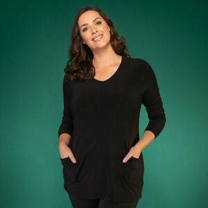 Nicole Tunic with Pocket Detail S, L, petrol /teal, black, green, wine, purple