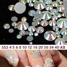 Wholesale Glass Crystal AB Non Hotfix Flatback Rhinestones 1440pcs SS4-SS40
