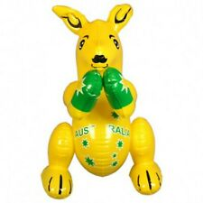 Australian Souvenir Supporter Blow Up Inflatable 40cm Yellow Boxing Kangaroo