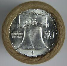 "90% Silver Franklin Half Dollar Roll ""D"" Mint BU Unknown Date Old US Coins NR 21"