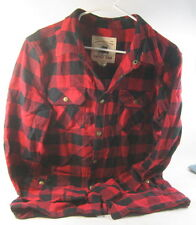 smoke rise clothing SH 5077S JACKET RED/BLACK 100% COTTON  size  XL ***