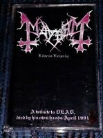 Mayhem – Live In Leipzig. VG+ Cassette Tape Plays Perfectly Rare Loud Out