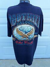 Vtg 1997 Boot Hill Saloon Eagle Daytona Beach Bike Week Black T-Shirt Size Xl