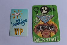 The Beach Boys - 2 x Backstage Pass - Free Postage -