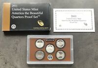 USA 2011 S America The Beautiful Quarter Proof Set San Francisco PP 25c QUARTERS