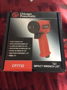 """Chicago Pneumatic 7732 1/2"""" Drive Stubby Ultra Compact Impact Gun Wrench CP7732"""