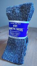 Men's Diabetic 48% Merino Wool Crew Socks Mid Calf Blowout Fire Sale 2 Pair