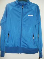 Chaqueta Abrigo Sudadera con cremallera completa, azul, tamaño pequeño, de Osaka