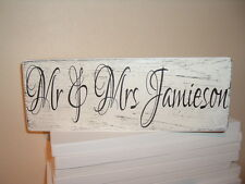 MR & MRS signs personalised shabby vintage chic plaques christmas gift