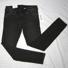 New H&M Ladies 28/32 Super Skinny Low Rise Waist Stretch Denim Jeans Black