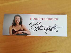 Autogrammkarte, - Musik, - Henriette Gärtner
