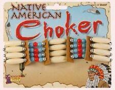 rot Indianer Squaw Halskette Perlen Halsband Apache Pocahontas