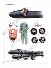 PLANCHE UNIFORMS PRINT WWII Marin Sailor Kriegsmarine Marine de guerre Germany