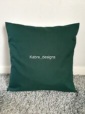 """NEW 18"""" PLAIN BOTTLE GREEN CUSHION COVER PILLOW BED SOFA MORE COLOURS SIZES"""