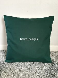 """1 NEW 14"""" PLAIN BOTTLE GREEN COTTON CUSHION COVER OTHER COLOURS SIZES AVAILABLE"""