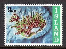 Iceland - 1972 Island map - Mi. 468 MNH