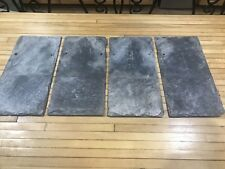 FOUR VINTAGE SLATE ROOF SHINGLES  Rectangular Approx 16x8 ART PAINTING
