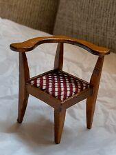 """2.5"""" Vintage Dollhouse MINIATURE brown Decorative Chair Kids Toy Used"""